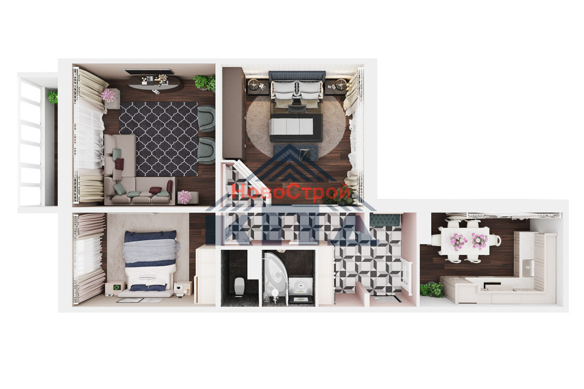 Продам 3-комн. квартиру по адресу Российская федерация, Омская область, Омск, Граничная, 11 стр фото 3 по выгодной цене