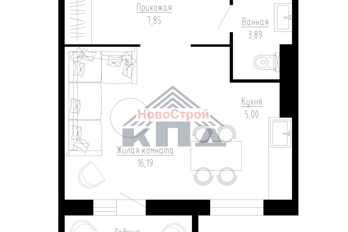 Продам 1-комн. квартиру по адресу Российская федерация, Омская область, Омск, Малиновского, 23 к1 фото 6 по выгодной цене