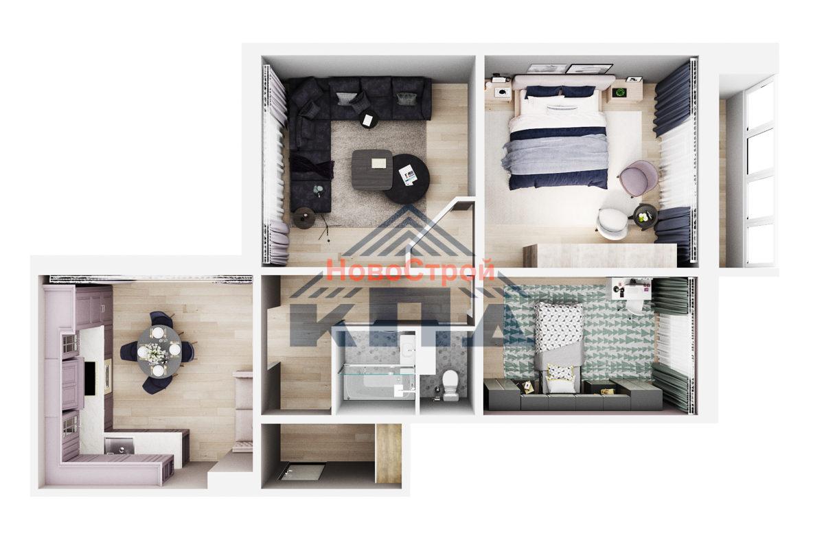 Продам 3-комн. квартиру по адресу Российская федерация, Омская область, Омск, 4 Марьяновская, 1стр фото 2 по выгодной цене